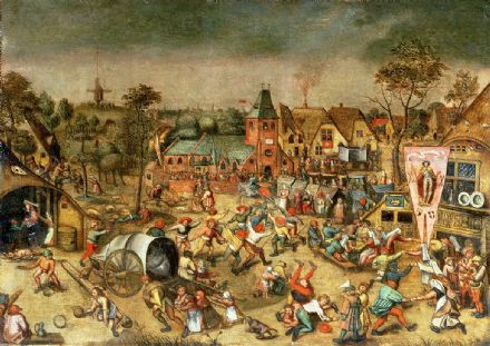 Bruegel the Elder, Pieter: The Kermesse of the Feast of Saint George. Fine Art Print/Poster. Sizes: A4/A3/A2/A1 (003610)
